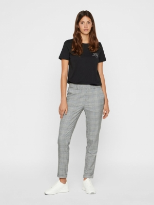 VMMAYA MR LOOSE CHECK PANT NOO Black/White