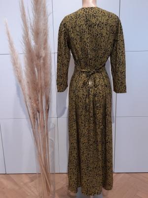 JDYMELVIN LIFE 7-8  LONG DRESS Green Moss/BLAC
