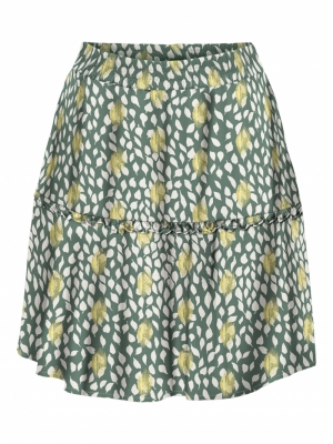VMPENNY HW SHORT SKIRT WVN Laurel Wreath/P