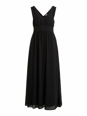 VIMILINA LONG DRESS-SU - NOOS Black