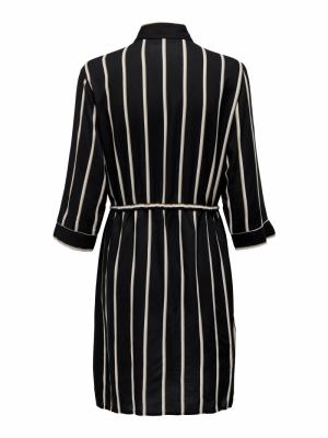 ONLTAMARI 3-4 SHIRT DRESS WVN Black/WHITE/CAM