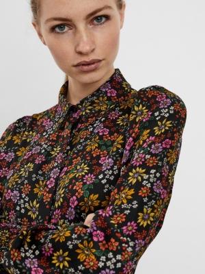 VMGAJA L-S SHIRT DRESS FD20 GA Black/DEBBIE