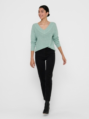 ONLMELTON LIFE L-S PULLOVER KN Ether