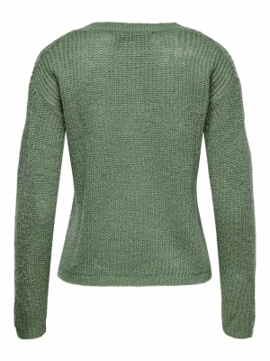 JDYMIELLA L-S V-NECK PULLOVER Sea Spray