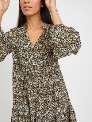 VITENDI TULLAN L-S DRESS-OFW Black/FLOWER PR