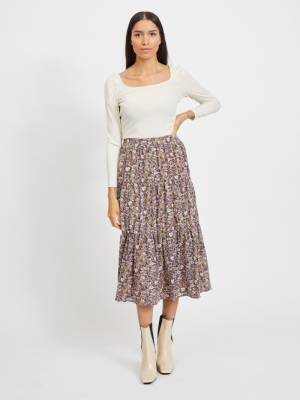 VIPALS MIDI SKIRT -RX Cloud Dancer/PU