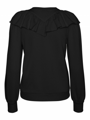 VMNATALIE L-S COLLAR SWEAT FD2 Black