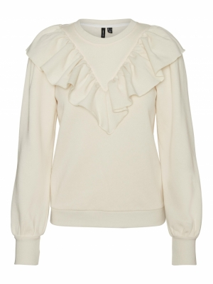 VMNATALIE L-S COLLAR SWEAT FD2 Birch