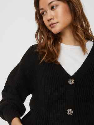 VMLEA LS V-NECK CARDIGAN NOOS Black