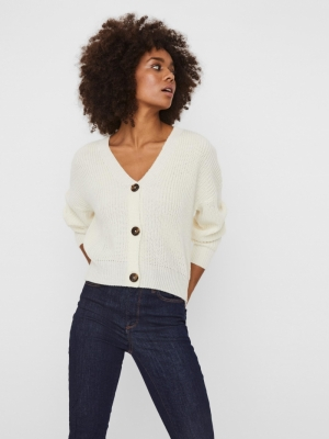 VMLEA LS V-NECK CARDIGAN NOOS Birch