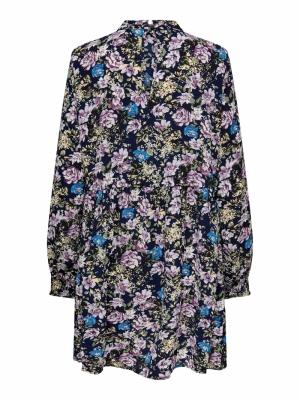 JDYPIPER L-S SHORT DRESS WVN N Black Iris/PURP