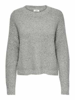 JDYDINDY L-S PULLOVER KNT Light Grey Mela