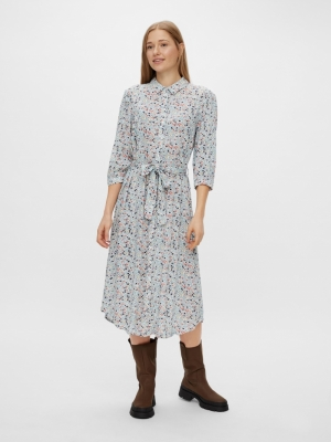 PCRACA LS MIDI SHIRT DRESS D2D logo
