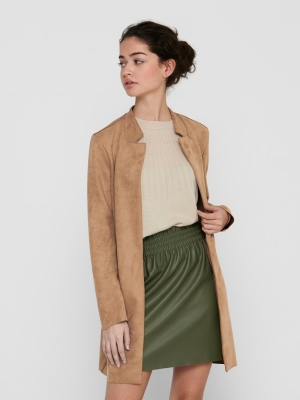 ONLSOHO FAUX SUEDE COATIGAN CC Toasted Coconut