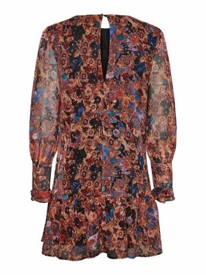 VMHANNA L-S PLEAT DRESS FD20 G Mecca Orange/HA