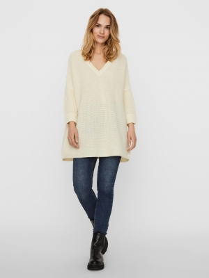 VMLEANNA 3-4 V-NECK LONG BLOUS Birch