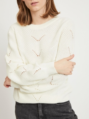 VIENIA O-NECK L-S KNIT TOP-SU logo