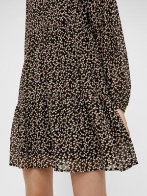OBJMILA GIA L-S DRESS NOOS Black/FLOWERS
