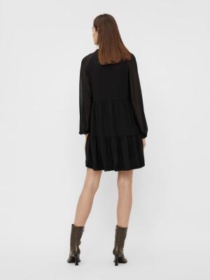 OBJMILA GIA L-S DRESS NOOS Black