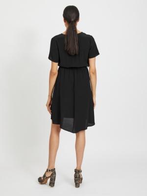 VIPRIMERA WRAP S-S DRESS-FAV Black