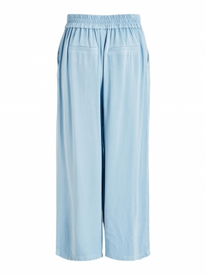 VIFANZA HW CROPPED PANTS-PB Light Blue Deni