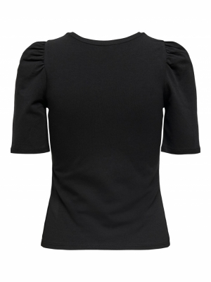 ONLLIVE LOVE LIFE 2-4 PUFF TOP Black