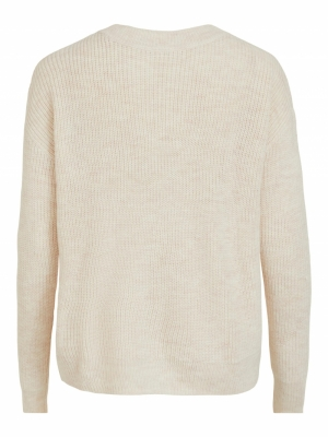 VIOKTAVI L-S KNIT CARDIGAN-SU Super Light Nat