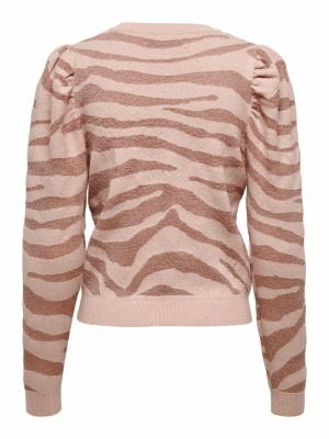 ONLCERIE L-S PULLOVER CC KNT Seashell Pink/G