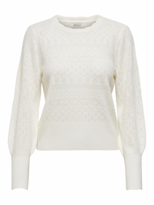 ONLMADELYN L-S PULLOVER KNT Cloud Dancer