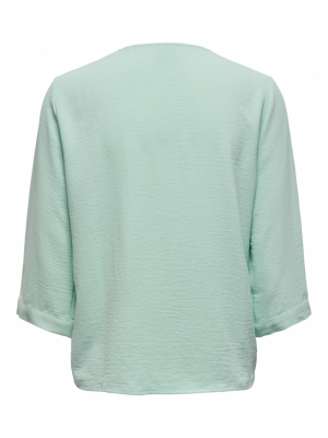JDYCAPOTE 3-4 SHIRT WVN Pastel Turquois