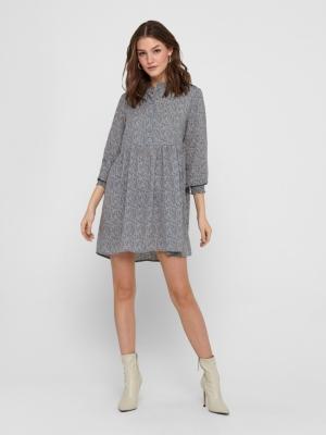 JDYCARMEN L-S SHORT DRESS WVN Citadel/COPPER