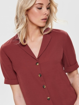 ONLSKY S-S SHIRT SOLID NOOS WV Spiced Apple