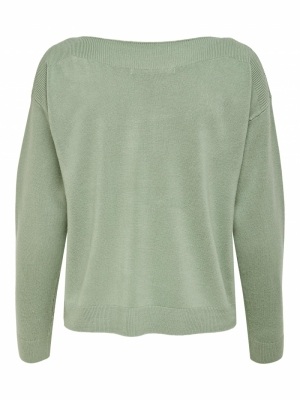 ONLAMALIA L-S BOATNECK PULLOVE Hedge Green