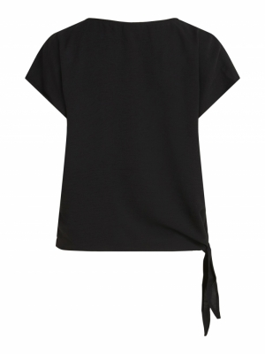VISURASHA S-S TIE TOP-SU Black