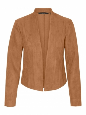 VMRAY L-S FAUX SUEDE BLAZER TL Tobacco Brown