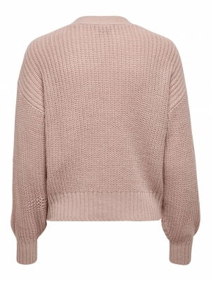 JDYNOLA JUSTY L-S CARDIGAN KNT Adobe Rose
