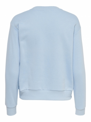 JDYPARIS LIFE L-S  SWEAT JRS R Chambray Blue/P