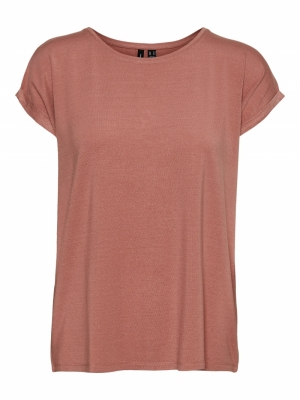VMLAVA PLAIN SS TOP LUREX STRI Old Rose/ROSE G