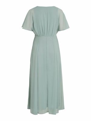 VIRILLA V-NECK 2-4 ANKLE DRESS Jadeite