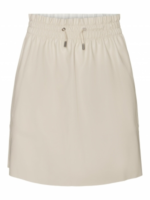 VMAVA HW SHORT COATED SKIRT Oatmeal