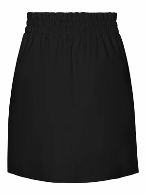 VMAVA HW SHORT COATED SKIRT Black