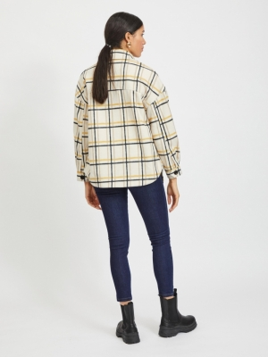 VIANDRA SHIRT JACKET-SU Birch/W. HUMUS