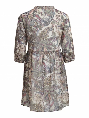 VISAGA 3-4 BUTTON DRESS-SU Cloud Dancer/W.