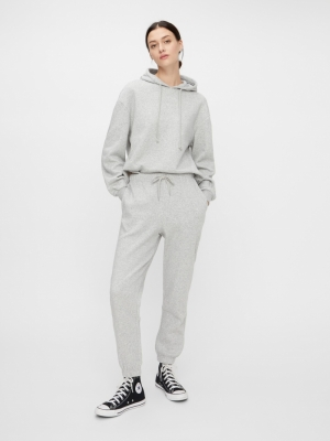PCCHILLI HW SWEAT PANTS D2D BC Light Grey Mela