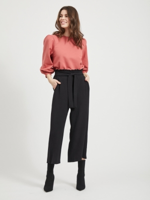 VIRASHA HWRX CROPPED WIDE PANT Black