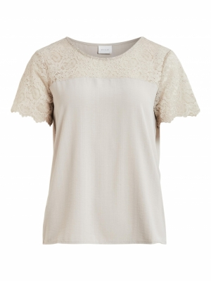 VILOVIE S-S LACE TOP-SU - FAV logo