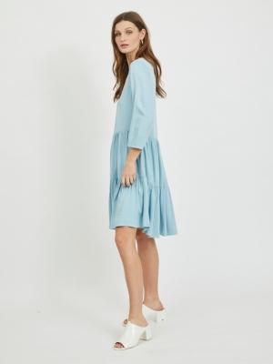 VIFANZA 3-4 DENIM DRESS-PB Light Blue Deni