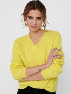 JDYSANDY L-S V-NECK PULLOVER K Yellow Cream