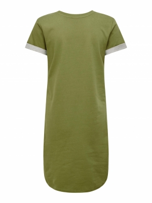 JDYIVY LIFE S-S DRESS JRS NOOS Martini Olive