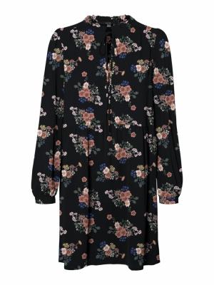 VMSAGA LS SHORT DRESS WVN GA Black/DEMI